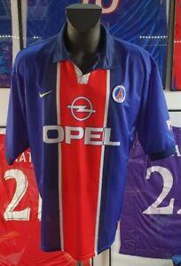 Maillot-jersey-shirt-maglia-camiseta-paris-psg-vintage-98-99-1998-1999-XXL