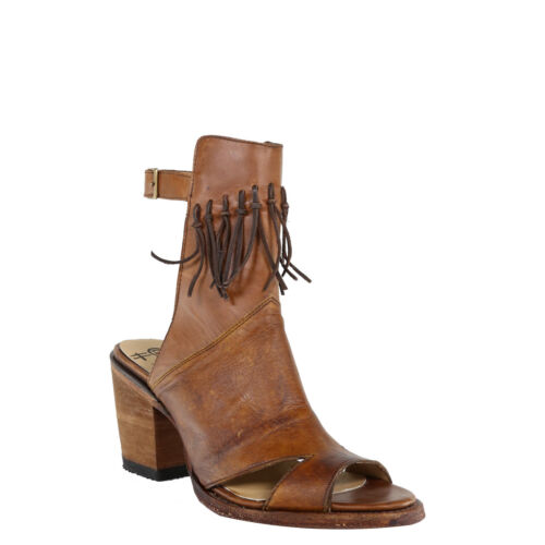 Circle G by Corral Ladies Brown Fringe Open Toe Open Heel Sandal L5322