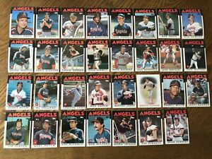 1986 CALIFORNIA ANGELS Topps COMPLETE Baseball Team Set 31 Cards JACKSON CAREW!