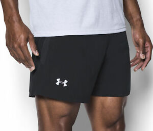 abc60ff1 Details about Under Armour Launch SW 5 Inch Mens Running Shorts - Black