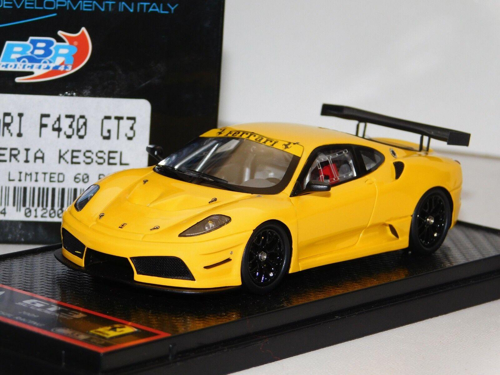 Ferrari F430 GT3 Scuderia Kessel jaune BBR Lim. 60 PIECES BBRC 18Y 1 43
