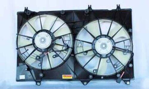 Dual Radiator and Condenser Fan Assembly For 2008-2010 Toyota Highlander Hybrid