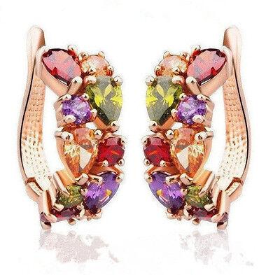 1 Pair Hot Fashion Women Lady Elegant Crystal Rhinestone Ear Stud Earrings