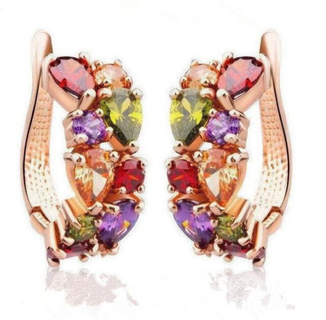 1 Pair New Hot Fashion Women Lady Elegant Crystal Rhinestone Ear Stud Earrings