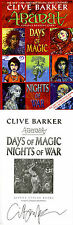 Clive Barker SIGNED AUTOGRAPHED Abarat Day of Magic Nights of War ARC 1st Ed/1st