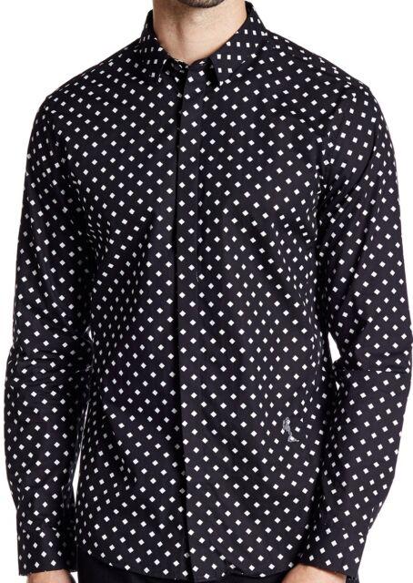 7705d8fa Religion Triad Diamond Long Sleeve Shirt BNWT Designer Mens Top Clothing