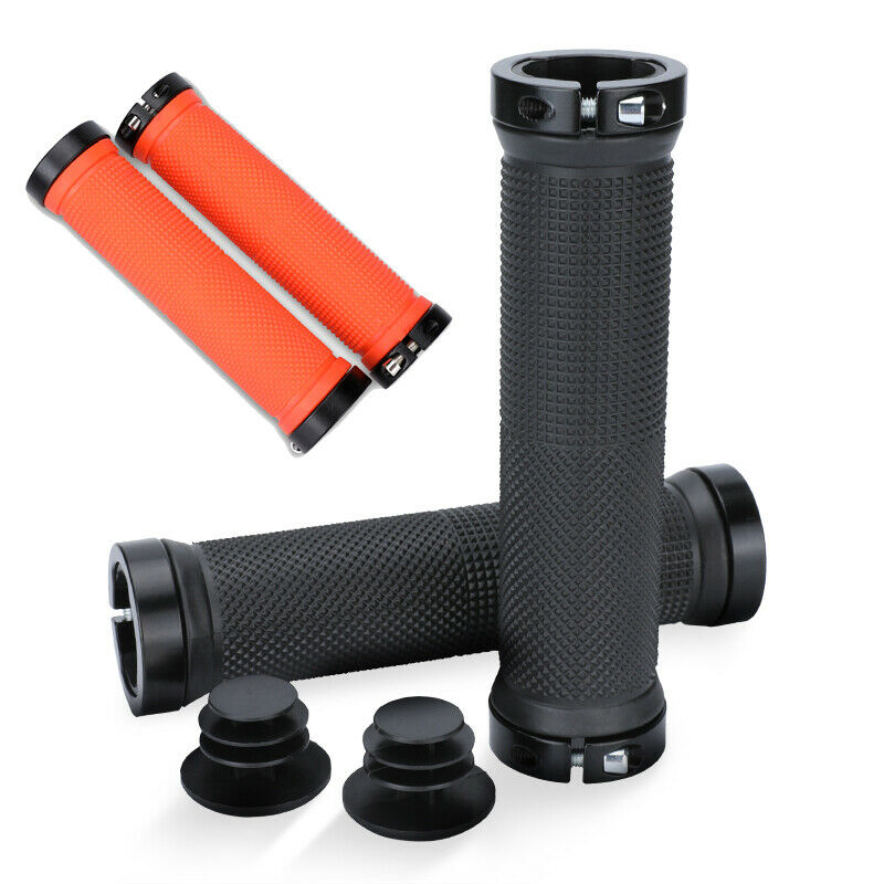 1 Pair Bicycle Double Lock On MTB Mountain BMX Bike Cycling Handle Bar Grips Acc