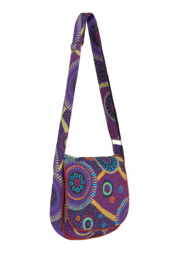 New Cotton Small Shoulder Bag Mandala Print Green Blue Hippie Bag