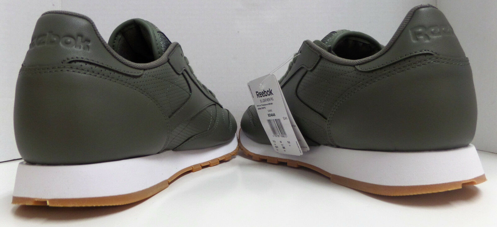 537e62c70bc Reebok Classic Leather PG Olive Green White Trainer Shoe US 10.5   EUR 44  BD4648 for sale online