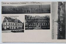 17476 AK Grußaus Weißenborn b. Freiberg Schule Kartenhaus Max Martin Rittergut