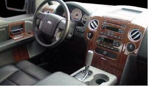 ford f 150 f150 xl xlt stx interior wood dash trim kit 2004 2005 2006 2007 2008 ebay. Black Bedroom Furniture Sets. Home Design Ideas