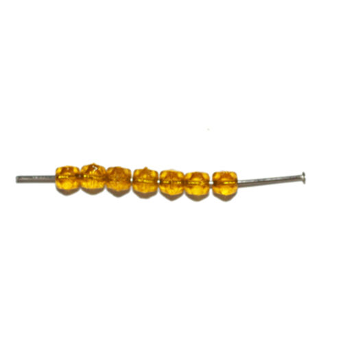 pack of 70 Citrine Yellow Roughcut Czech Pressed Glass Beads 4mm