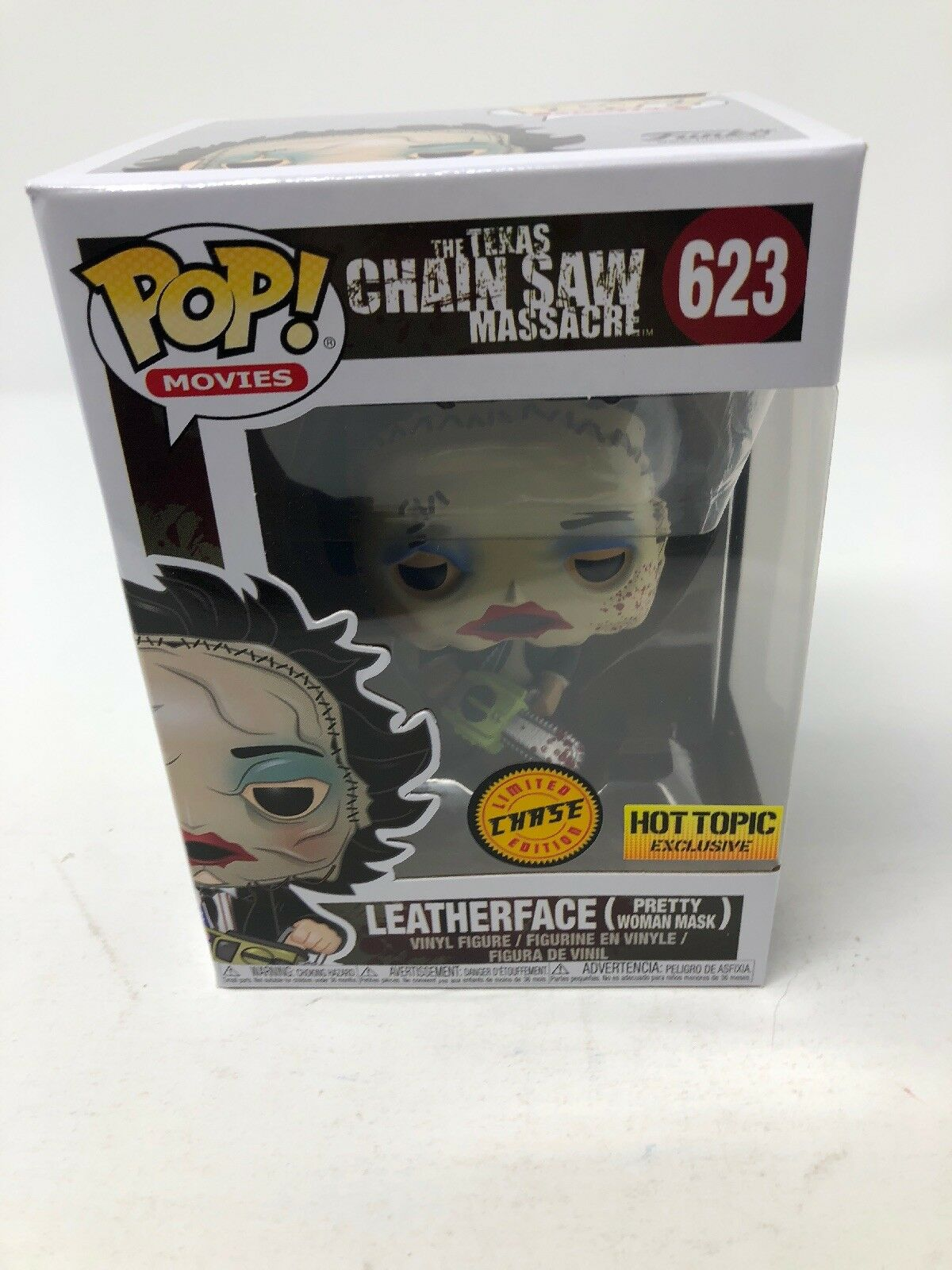 Funko Pop Leatherface Hot Topic Chase exclusivo  623 Texas Chainsaw Massacre