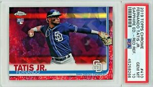 Fernando Tatis Jr. 2019 Topps Chrome Sapphire Red Refractor #1/5 RC Psa10 -Pop1-