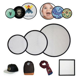 Details about Blank Sublimation Patches apply to: Cap / Hat / Scarf / Bag /  T-Shirt / Wallet
