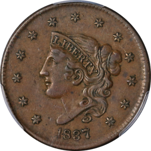 1837-Large-Cent-Medium-Letters-PCGS-XF45-N-6-R-2-Superb-Eye-Appeal