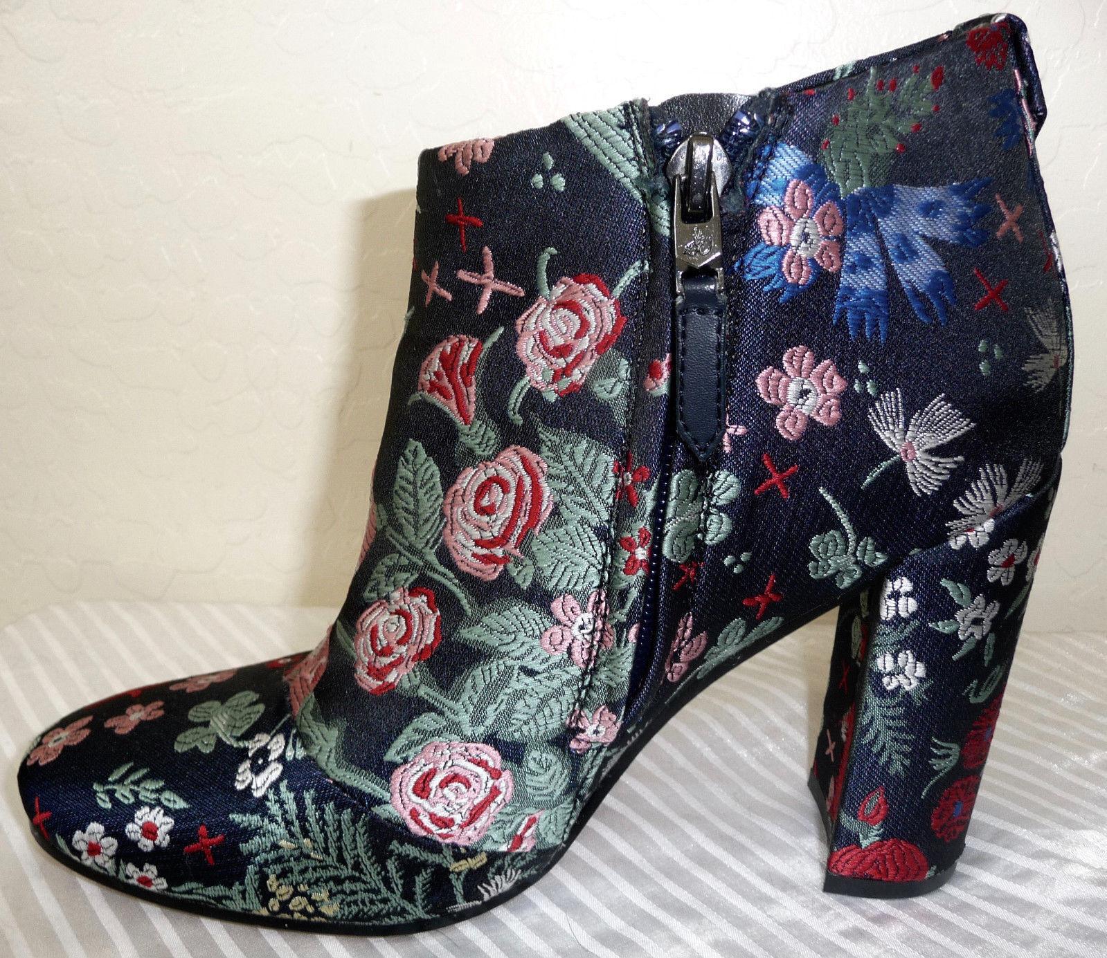 Sam Edleman Cambell Multi Floral Brocade Bootie Size 6.5 Originally 160.00