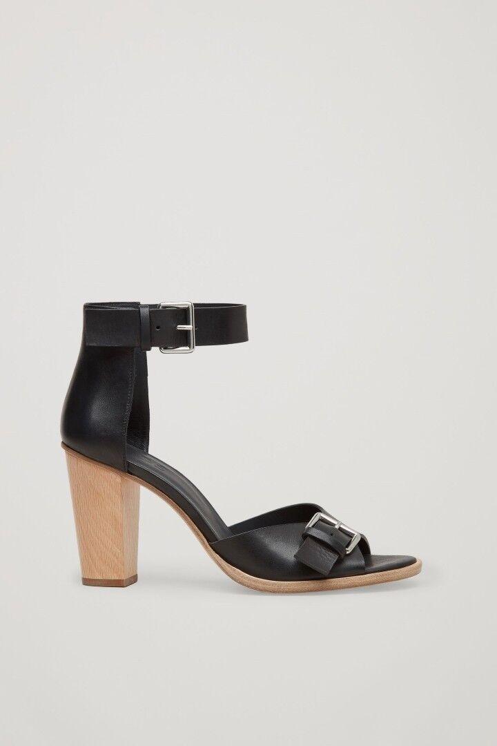 Tacón alto zapatos sandalias de cos negro Gr. 38 nuevo