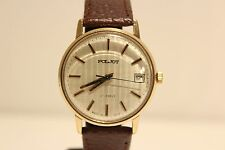 """VINTAGE GOLD PLATED USSR RUSSIA MECHANICAL WATCH""""POLJOT"""" WITH BEAUTIFUL DIAL"""