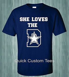 4ae1630ba She Loves The D T-Shirt Dallas Cowboys NFL Star Shirt Dez Bryant ...