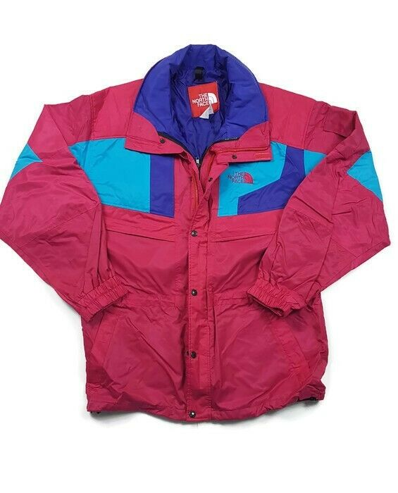 The North Face GORE TEX Ski Jacket Womens L Pink/Blue