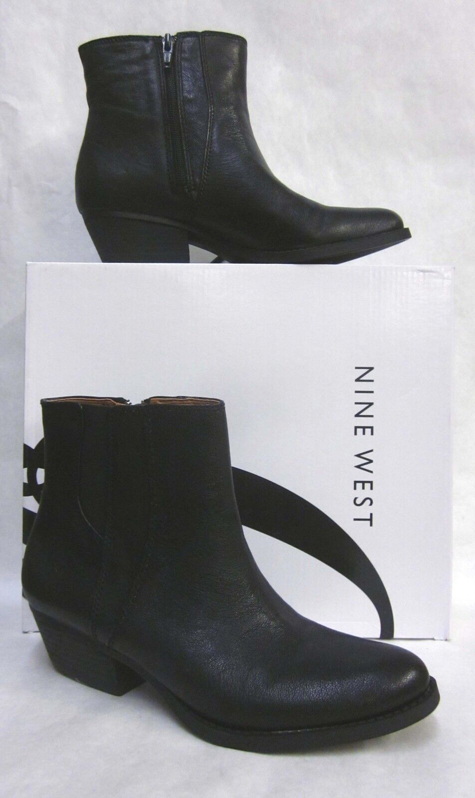 Nine West Sloane Black Ankle Boots - size 7