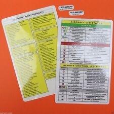 DJI Inspire 1 (One) Drone Laminated Safety Flight Checklist Card / FAA Decals