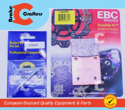 REAR EBC HH RATED BRAKE PADS /& NEW PINS FOR 1986-1998 SUZUKI GSXR 1100