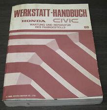 Werkstatthandbuch Honda Civic Getriebe Bremsen Motor Karosserie ab Baujahr 1988