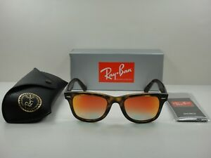 1d4d5ffcce RAY-BAN WAYFARER EASE SUNGLASSES RB4340 710 4W TORTOISE ORANGE ...