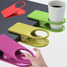 Office Home Drink Coffee Water Cup Holder Mug Rack Cradle Stand Clip Desk Table