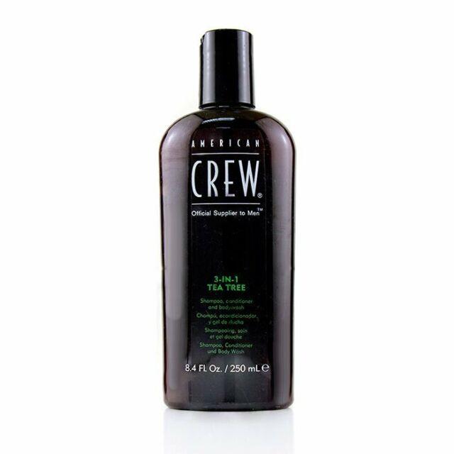 American Crew Men 3-IN-1 Tea Tree Shampoo, Conditioner and Body Wash 250ml