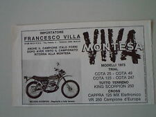 advertising Pubblicità 1973 MOTO MONTESA KING SCORPION 250
