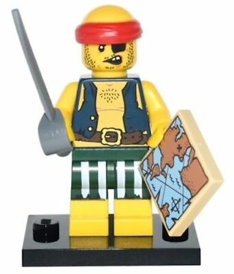 LEGO Mini Figures Series 16 Scallywag Pirate with Map and Cutlass #  71013