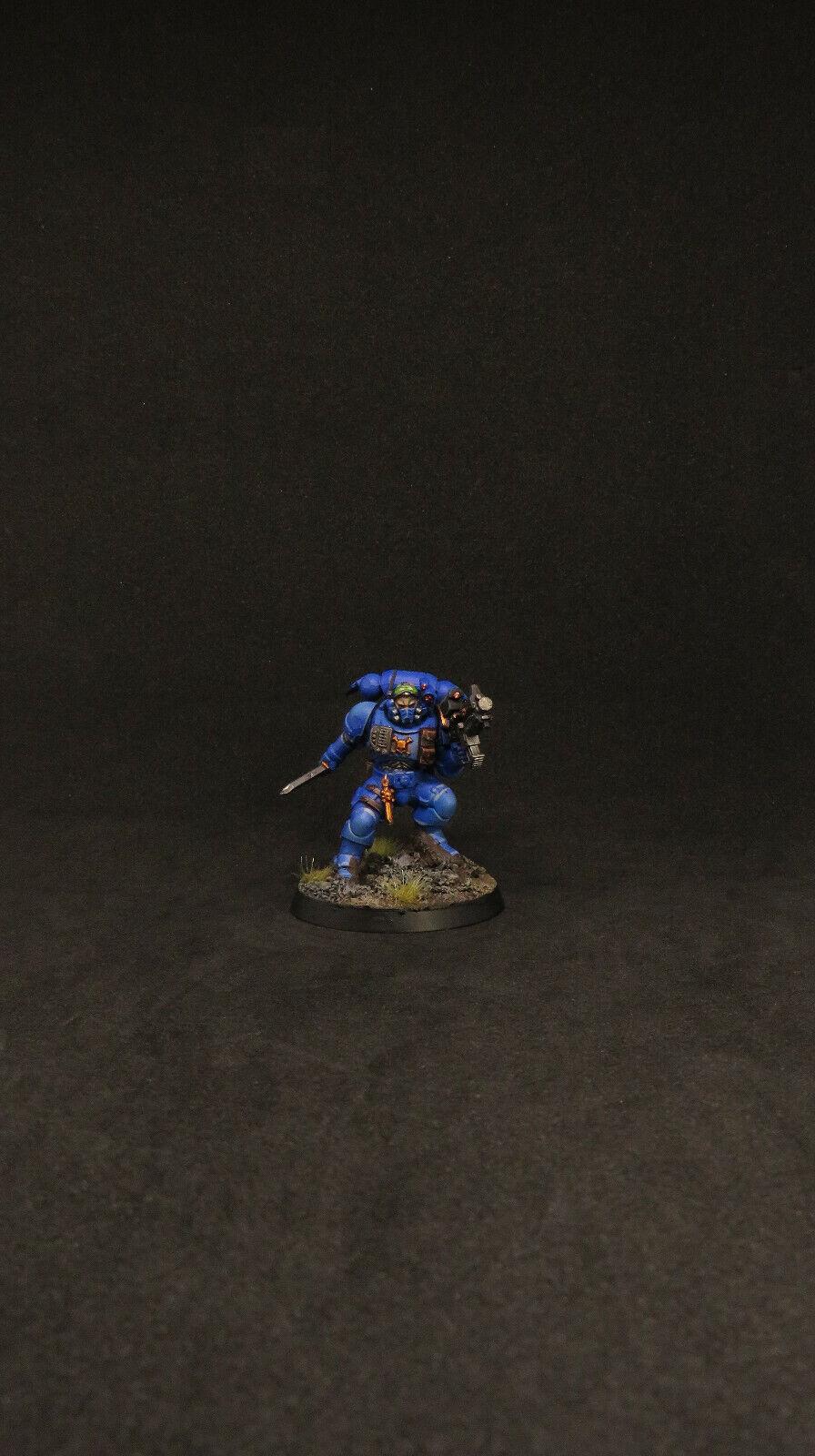 Warhammer 40k Well Painted Space Marines Primaris Lieutenant Phobos Ultramarines