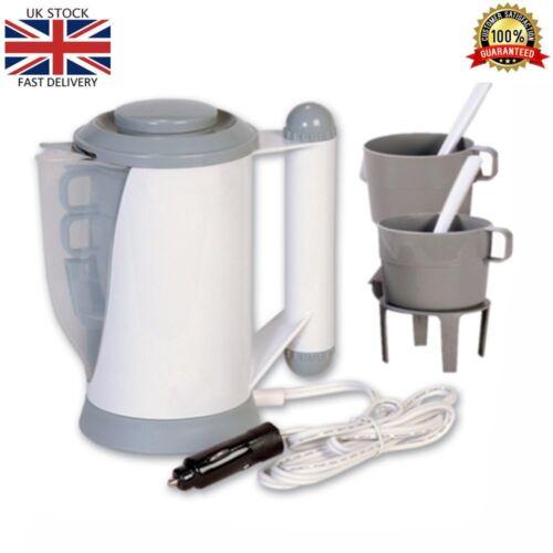 12V Car Travel Kettle Socket Camping Tea Coffee Rapid Boil Thermos Van Caravan
