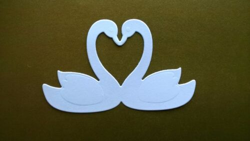 Saint Valentin marianne design Mariage-Blanc 5 x CYGNES DIE CUTS - Love cartes