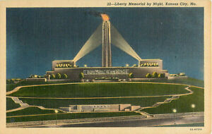 Postcard-Liberty-Memorial-By-Night-Kansas-City-MO