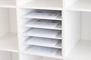 Postfach / Scrapbooking Papier Einsatz für Ikea Expedit Regal (weiß ...