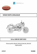 Moto Guzzi parts manual book 2007, 2008, 2009, 2010 & 2011 Griso 1200 8V