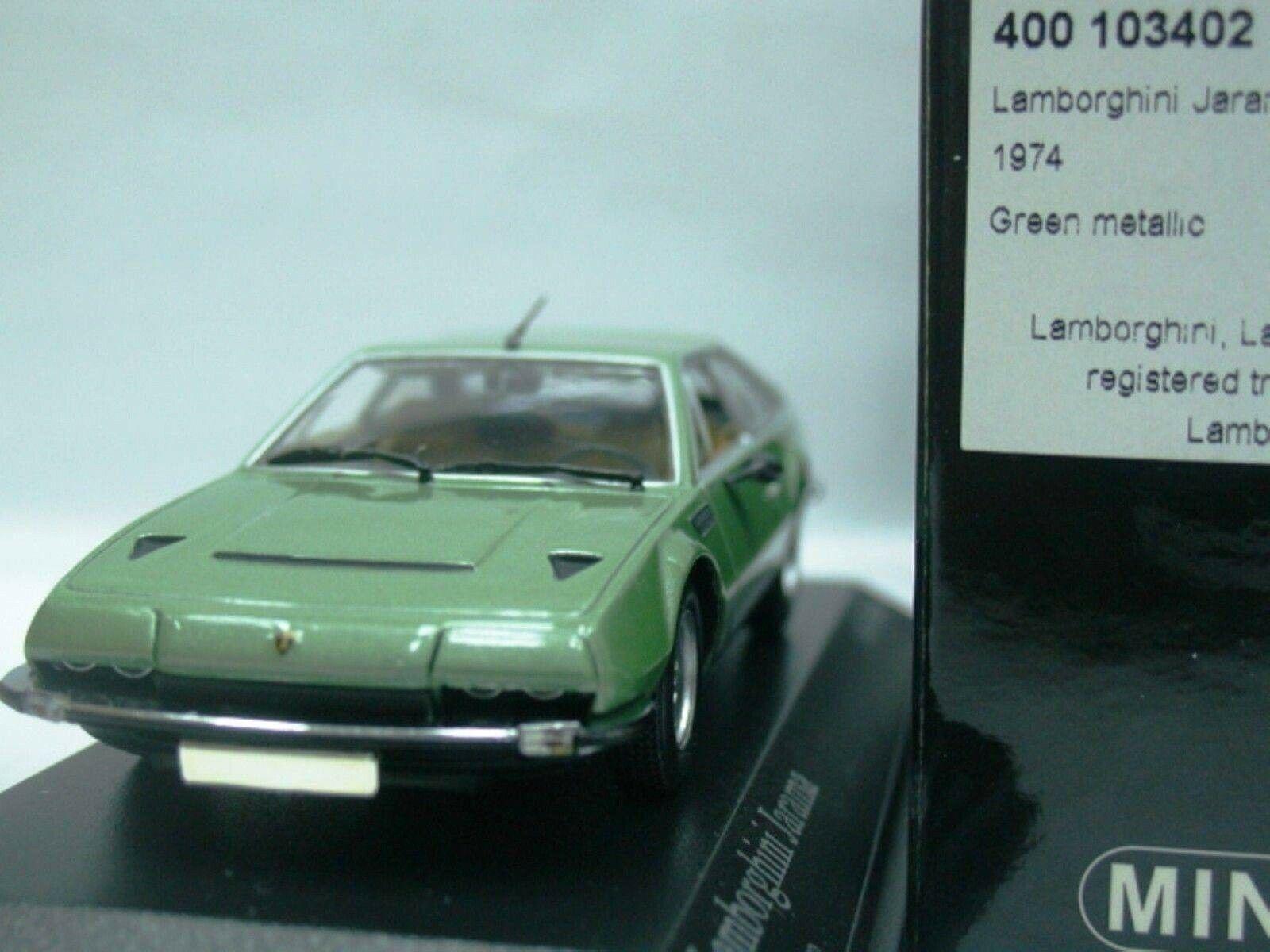 WOW estremamente raro LAMBORGHINI JARAMA 400 GTS 1974 verde 1 43 Minichamps-ESPADA