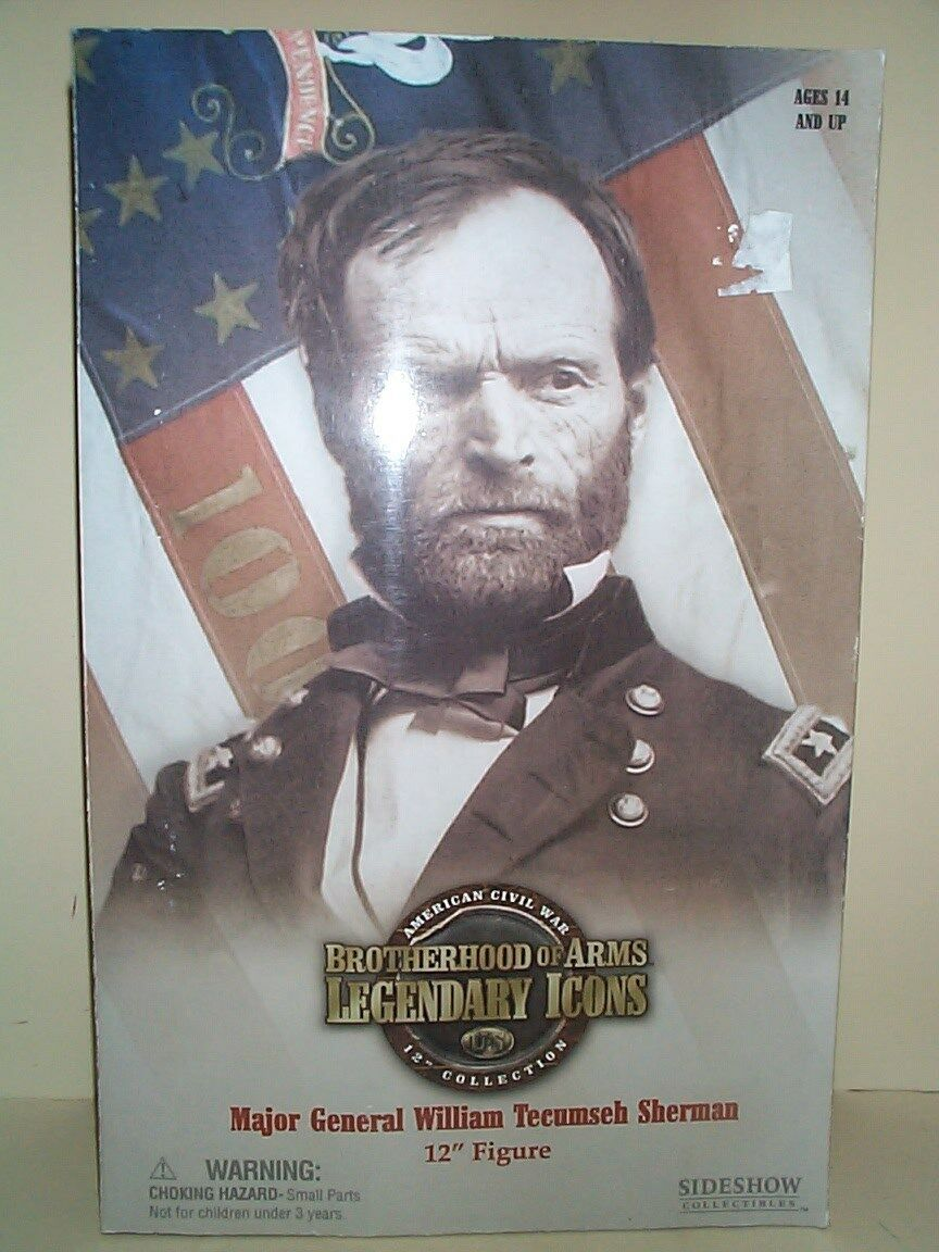 SIDESHOW 12 INCH CIVIL WAR UNION ARMY MAJOR GENERAL SHERMAN MIB