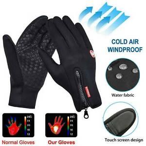 Men Women Winter Warm Windproof Waterproof Thermal Touch Screen Gloves Mittens C