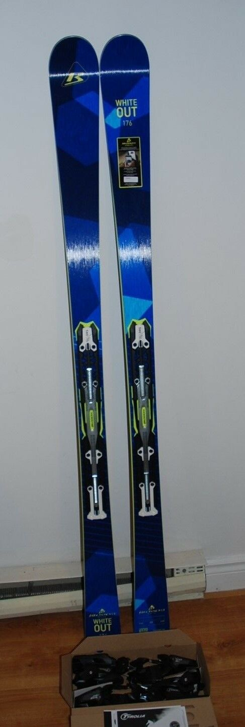 BLOSSOM SKI WHITE OUT 170cm 2018 with TRIFLEX PLATE and PRD 12 Binding(tyrolia)