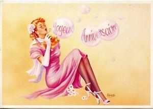 Cpsm Postcard Carte Postale Illustrateur A Laurent Joyeux Anniversaire Ebay