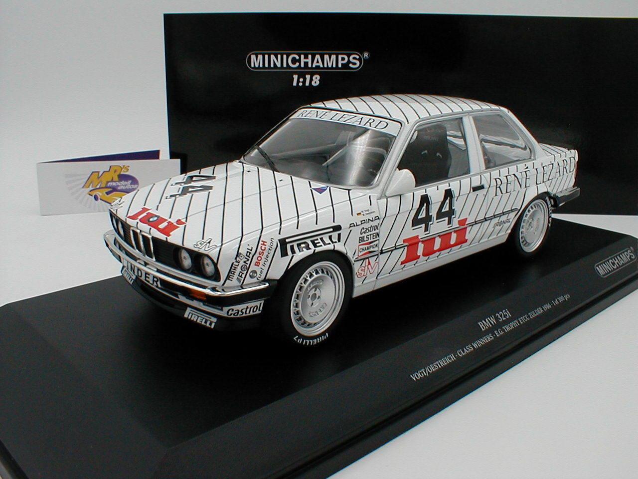 Minichamps 155862644   BMW 325i E30 ETCC Zolder 1986   Österreich - Vogt   1 18  | Meistverkaufte weltweit
