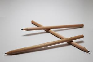 crayon-a-papier-HB-en-bois-de-cedre-non-verni-Lot-de-3-Ideal-pour-les-enfants