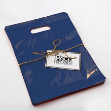 500 11x15 Navy Blue Plastic Retail Die Cut Handle Merchandise Bag Boutique