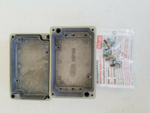 2 pieces Rolec conFORM EKF 082 111.082.0 Aluminum Enclosure  130 x 85 x 44 mm