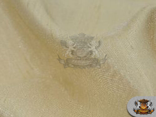 """Sold by the yard Satin Shantung Solid Fabric CHAMPAGNE 60/"""" Wide"""